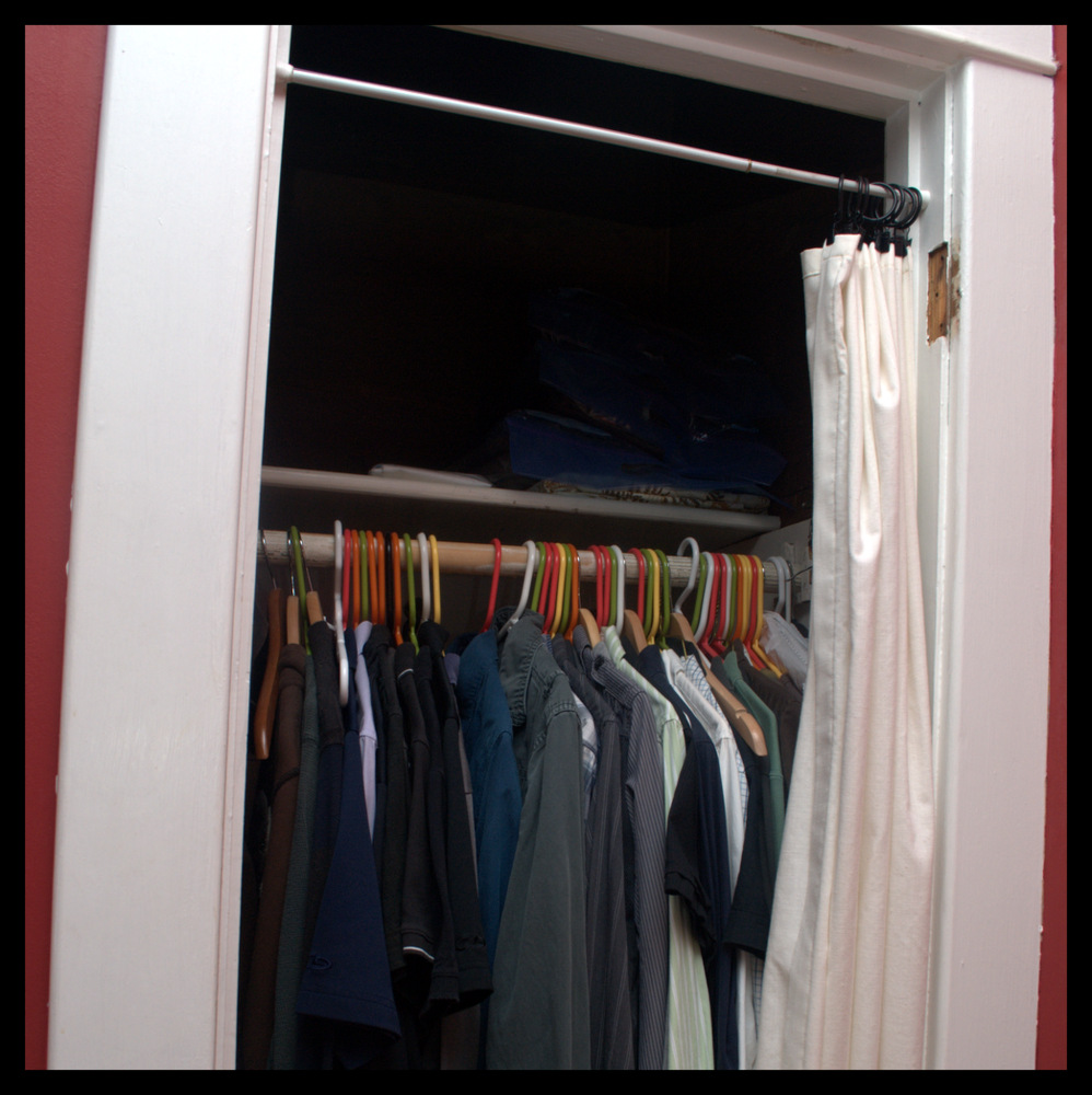#LWSLClutterFree master closet before photo