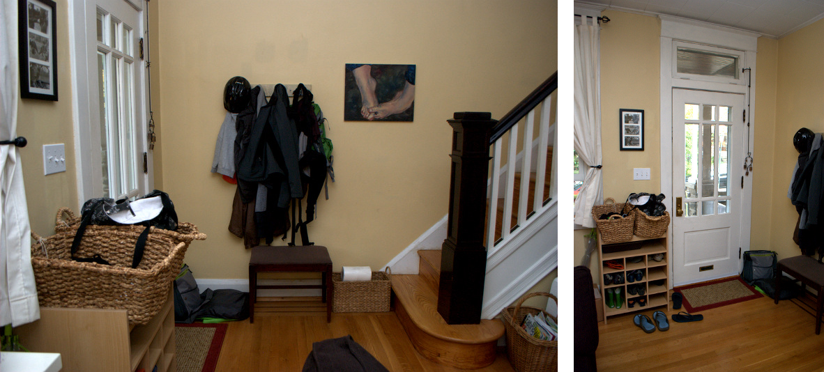 Before photo: #LWSLClutterFree Day 2 - Entryway