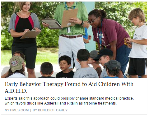 NY Times behavior therapy ADHD thumbnail