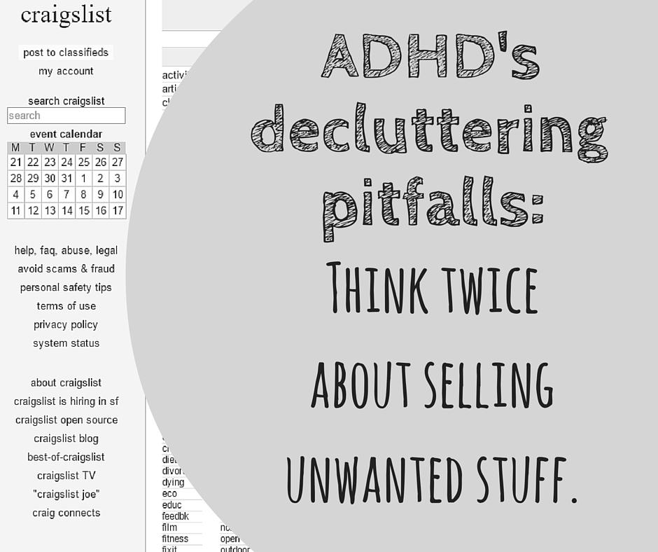 selling stuff ADHD
